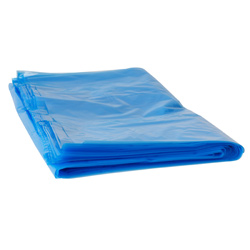 Blue Plastic Shredder Bags - Size: 530 x 330 x 1200mm (Pkt 25)