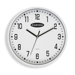 Carven Wall Clock 225mm White Frame