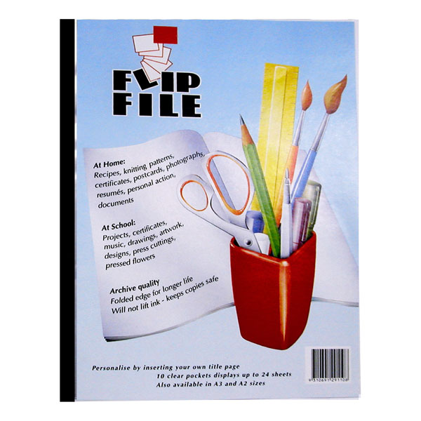 Flip File 10 Pages A4 (Box 10)