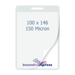 95x140mm Slotted Laminating Pouches - 150 Mic (Pkt 100)