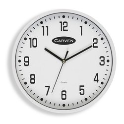 Carven Wall Clock 225mm - White