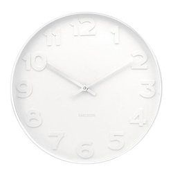 Large Karlsson Mr. White Numbers Wall Clock - Completely White