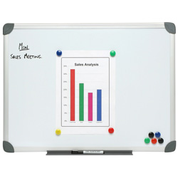 Nobo Aluminium Commercial Magnetic Whiteboard 600 x 900mm